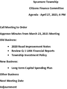 Icon of 04 27 2021 Finance Committee Agenda