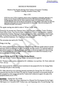Icon of Draft Trustees Meeting Minutes 05-04-2021