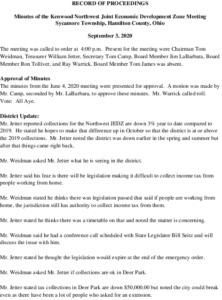 Icon of JEDZ Boards Minutes 09-03-2020