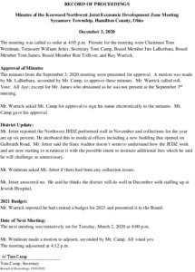 Icon of JEDZ Board Minutes 12-03-2020