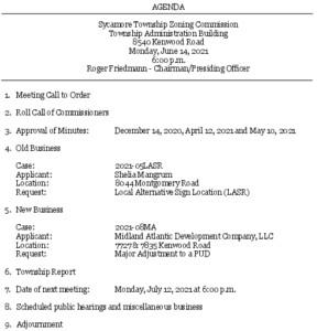 Icon of 06-14-2021 Zoning Commission Agenda