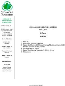Icon of CIC Meeting Agenda 06 01 2021