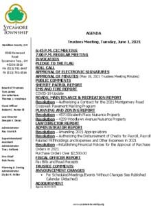 Icon of Trustee Meeting Agenda 06 01 2021