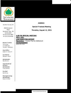 Icon of Special Trustee Meeting Agenda 08 12 2021