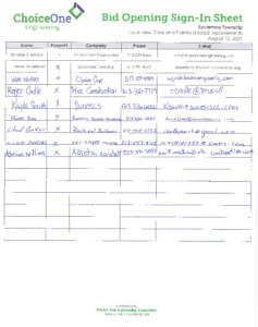 Icon of Larchview Plainfield Bid Opening Sign In Sheet 08 12 2021