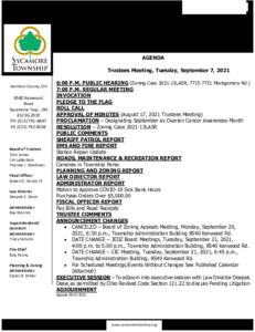 Icon of Trustee Meeting Agenda 09 07 2021