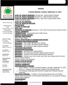 Icon of Trustee Meeting Agenda 09 21 2021