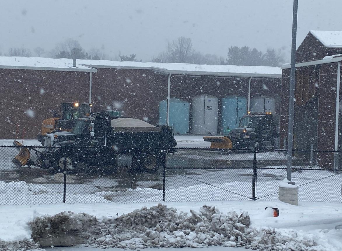 Dump Truck in snow