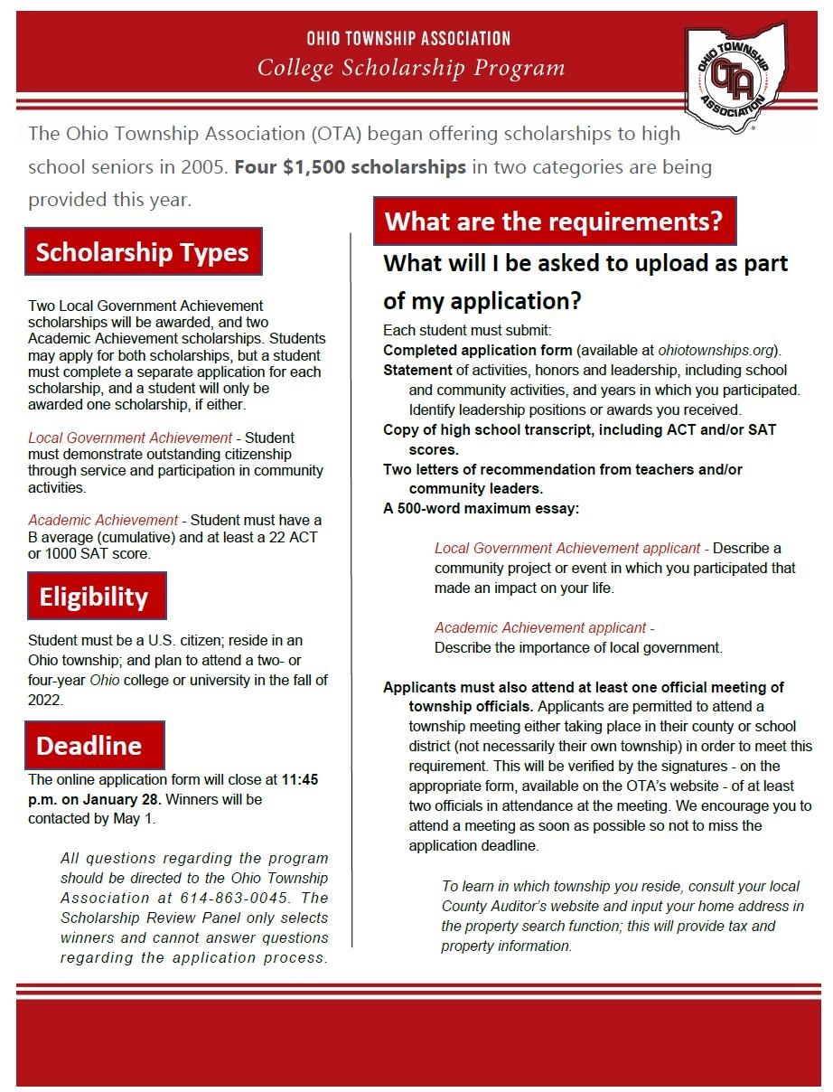 OTS Scholarship Information Sheet